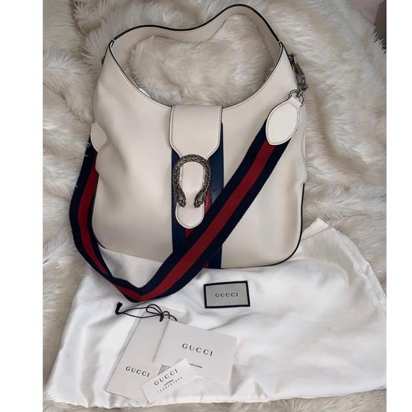 Gucci Handbags - Gucci Dionysus white leather hobo bag